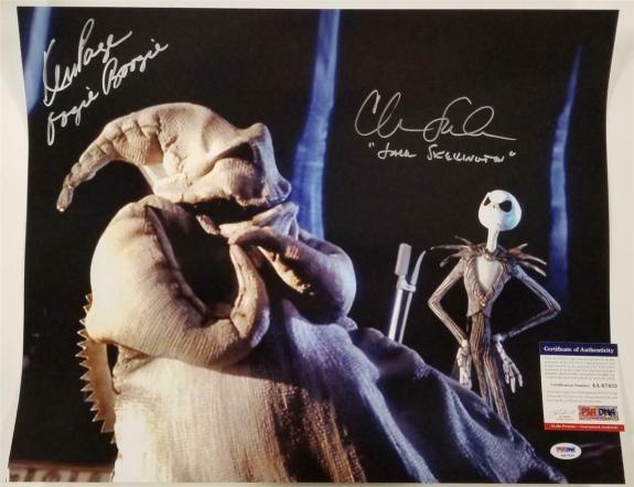 Chris Sarandon & Ken Page signed 16x20 Photo Nightmare Before Christmas~ PSA COA