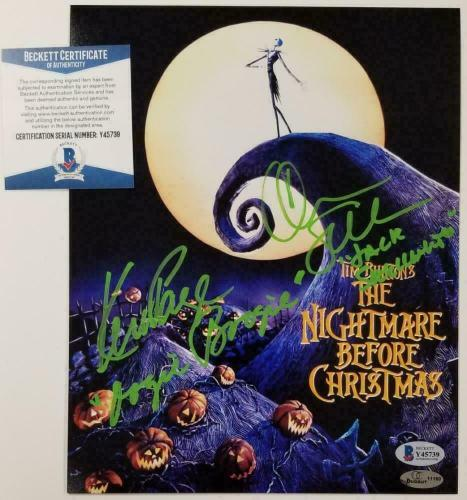 Chris Sarandon Ken Page signed Nightmare Before Christmas 8x10 Photo ~ BAS COA