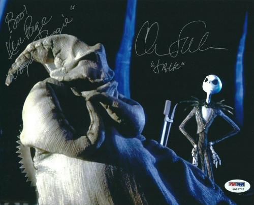 Chris Sarandon Ken Page Signed Nightmare Before Christmas 8x10 Photo PSA 5A66737