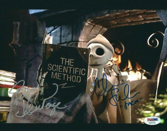 Chris Sarandon Ken Page Signed Nightmare Before Christmas 8x10 Photo PSA AA47723