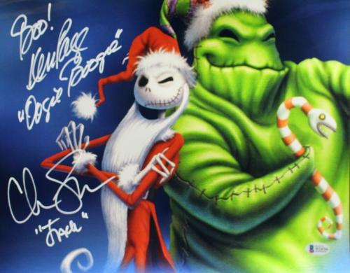 Chris Sarandon & Page Signed Nightmare Before Christmas 11x14 Photo BAS 25883