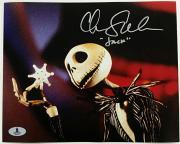 CHRIS SARANDON Signed 8x10 Photo #1 Disney JACK SKELLINGTON w/ Beckett BAS COA