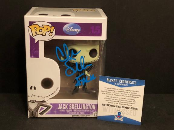 Chris Sarandon Signed Jack Skellington Nightmare B4 Christmas Funko Pop BAS 9405