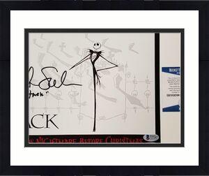 Chris Sarandon signed Nightmare Before Christmas 8x10 Photo Jack ~ BAS COA