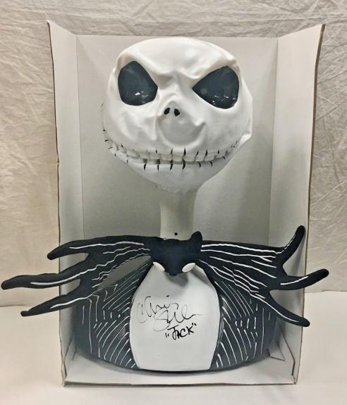 CHRIS SARANDON Signed Nightmare Before Xmas Motion Activated Talking Bust COA