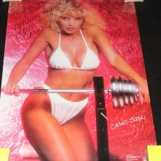 "Chris Sare Signed Vintage 1987 22x32"" Poster"