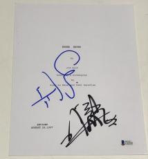 Chris Tucker Jackie Chan Signed Rush Hour Script Authentic Autograph Beckett Coa