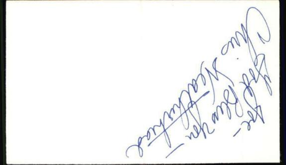"Chris Weatherhead The Edge of Night Signed 3""x5"" Index Card"
