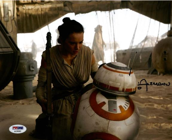 Christian Alzmann STAR WARS Force Awakens BB-8 Signed 8x10 Photo PSA/DNA COA #5