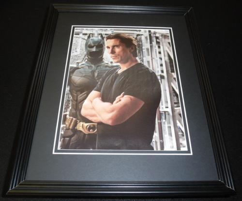 Christian Bale 2012 Batman Bruce Wayne Dark Knight Framed 11x14 Photo Display