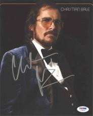 Christian Bale American Hustle Autographed Signed 8x10 Photo Certified PSA/DNA