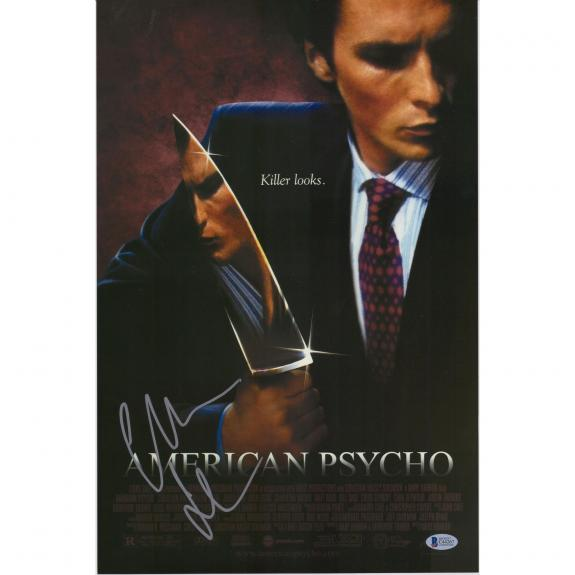"Christian Bale American Psycho Autographed 12"" x 18"" Movie Poster - BAS"