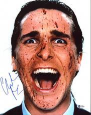 Christian Bale American Psycho Signed 11X14 Photo BAS #B73893