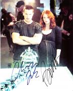 "CHRISTIAN BALE and BRYCE DALLAS HOWARD ""TERMINATOR SALVATION"" Signed 8x10 Color Photo"