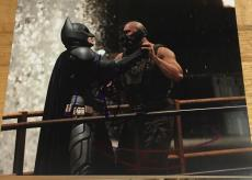 CHRISTIAN BALE AND TOM HARDY SIGNED AUTOGRAPH DARK KNIGHT FIGHT 8x10 PHOTO COA