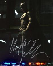 "CHRISTIAN BALE as BRUCE WAYNE/BATMAN in ""THE DARK NIGHT RISES"" Signed 8x10 Color Photo"