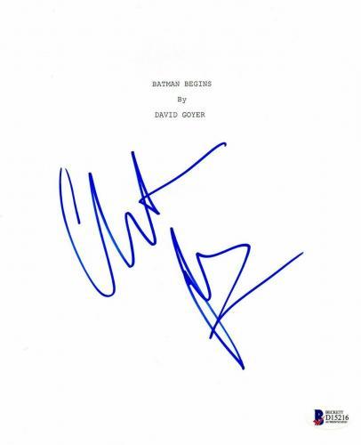 Christian Bale Autograph Batman Begins Signed Movie Script Beckett Bas Coa 1