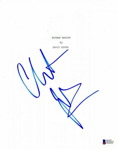 Christian Bale Autograph Batman Begins Signed Movie Script Beckett Bas Coa