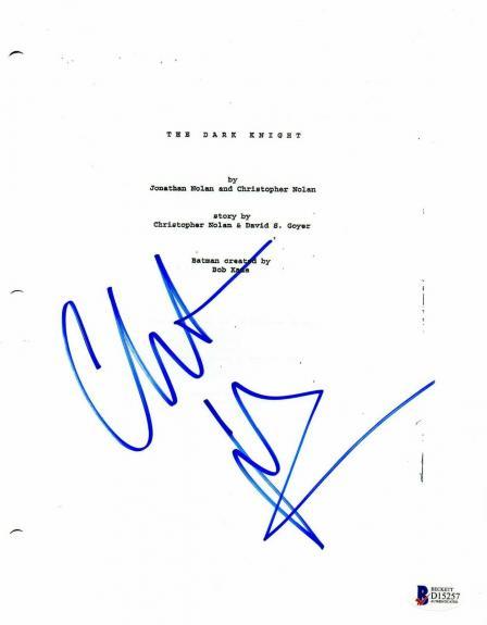 Christian Bale Autograph Dark Knight Signed Movie Script Beckett Bas Coa 1