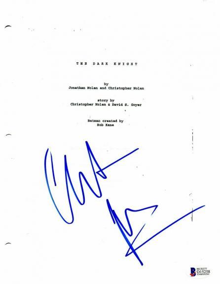 Christian Bale Autograph Dark Knight Signed Movie Script Beckett Bas Coa 2