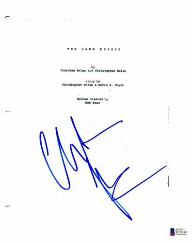 Christian Bale Autograph Dark Knight Signed Movie Script Beckett Bas Coa 4
