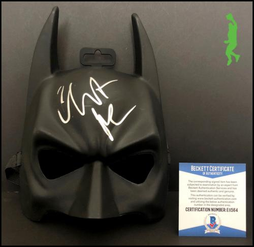 Christian Bale Autograph Signed Batman Costume Mask The Dark Knight Beckett Coa