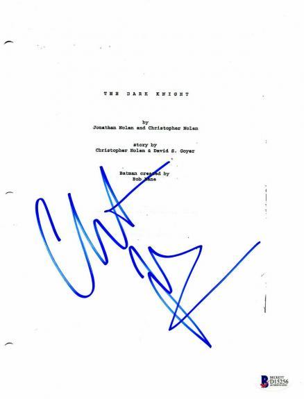 Christian Bale Autograph The Dark Knight Signed Movie Script Beckett Bas Coa 3