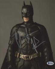 """Christian Bale Autographed 8"""" x 10"""" The Dark Knight Batman Begins Standing Looking Away Photograph - Beckett COA"""