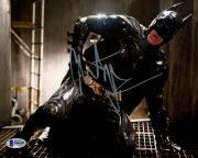 "Christian Bale Autographed 8"" x 10"" The Dark Knight Rises Batman Kneeling Holding Hip Horizontal Photograph - Beckett COA"