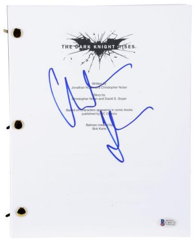 Christian Bale Autographed Batman The Dark Knight Rises Replica Movie Script - BAS COA