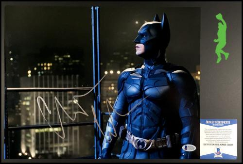 Christian Bale Autographed Signed 11x14 Photo Picture Batman Beckett Coa