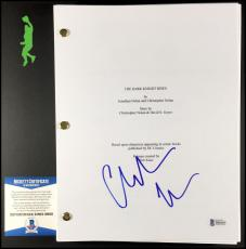 Christian Bale Autographed Signed The Dark Knight Batman Script Beckett Coa