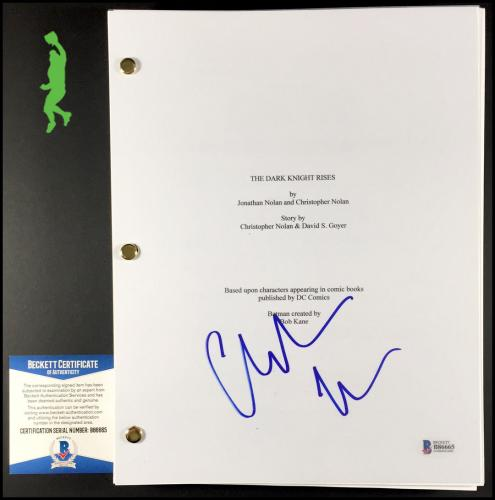 Christian Bale Autographed Signed The Dark Knight Batman Script Beckett Coa