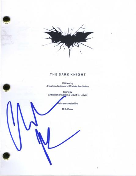 Christian Bale Autographed The Dark Knight Script Cover Page AFTAL UACC RD COA