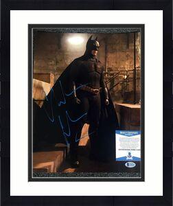 Christian Bale BAS Beckett Hand Signed Batman 11x14 Photo Original Autograph
