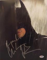 Christian Bale Bat Man  Signed Autographed 11x14 Photo Psa/dna  S19220