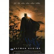 "Christian Bale Batman Begins Autographed 12"" x 18"" Movie Poster - BAS"