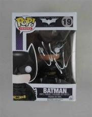Christian Bale Batman Dark Knight Autographed Signed Funko Pop Doll JSA