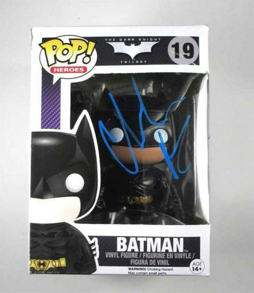 Christian Bale Batman Dark Knight Autographed Signed Funko Pop Doll JSA COA