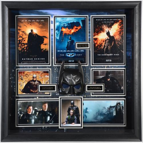 "Christian Bale Batman Framed Autographed 44"" x 30"" Movie Shadowbox - BAS"