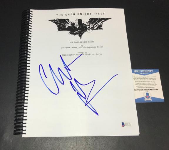 Christian Bale Batman Signed Auto The Dark Knight Rises Full Script Bas 13
