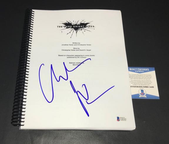 Christian Bale Batman Signed Auto The Dark Knight Rises Full Script Bas 14