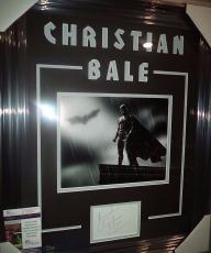 Christian Bale Batman Signed Autograph Photo Double Matted & Framed Jsa Coa Rare