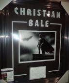 Christian Bale Batman Signed Autograph Photo Double Matted & Framed Jsa Coa Rare