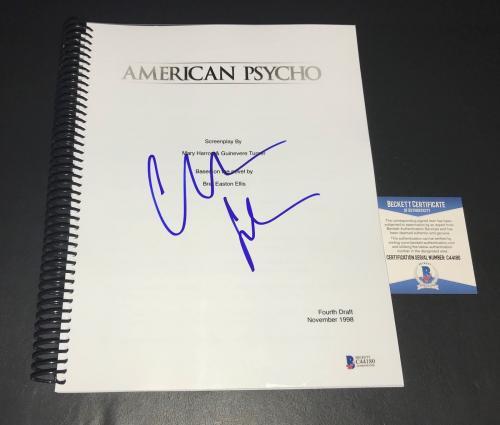 Christian Bale Batman Signed Autographed Amercian Psycho Full Script Bas 10