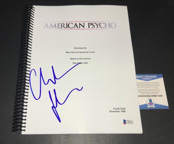 Christian Bale Batman Signed Autographed Amercian Psycho Full Script Bas 11