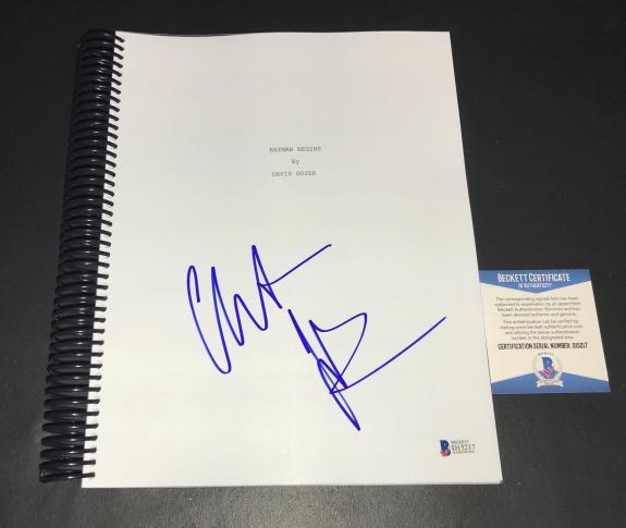 Christian Bale Batman Signed Autographed Batman Begins Full Script Bas 12