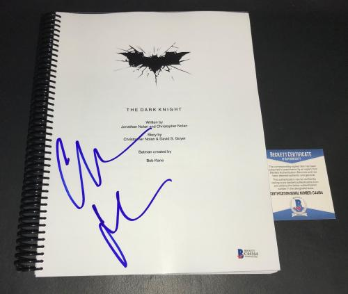 Christian Bale Batman Signed Autographed The Dark Knight Full Movie Script Bas 9