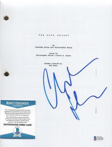 "Christian Bale Batman Signed ""dark Knight"" Complete Movie Script Beckett Coa A"