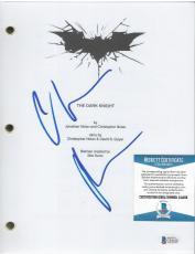 "Christian Bale Batman Signed ""dark Knight"" Complete Movie Script Beckett Coa B"